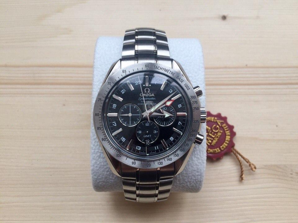 Купить наручные часы Omega Speedmaster Broad Arrow Co-Axial GMT в ... 6812414d54f